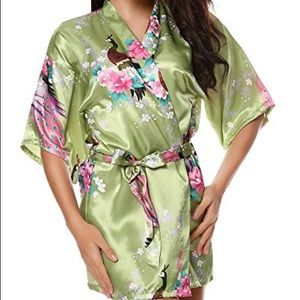 Other - 8 bridesmaid robes - light green and white NWT
